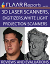 3d laser scanners digitzers white light projection inspection cad animation models reports reviews e
