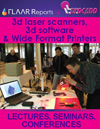 3d laser scanners 3-d software ZCorp rapid prototyper UV decor giclee seminars lectures