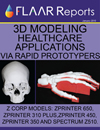 3d modeling healthcare applications rapid prototypers zcorp