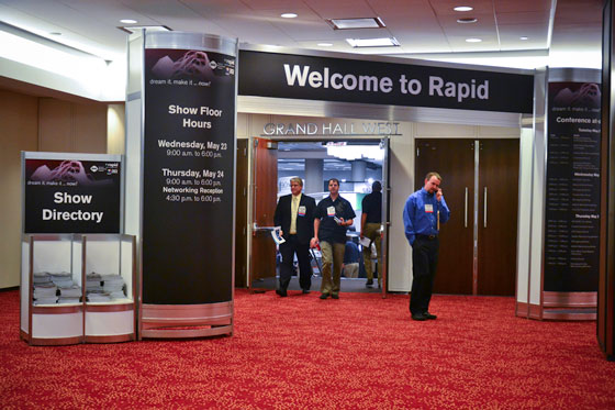 Registration area at RAPID 2012 3D expo